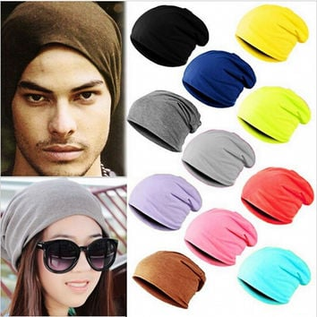 New Fashion Winter Warm Unisex Women Men Knit Ski Crochet Slouch Hat Cap Beanie Hip-Hop Hats