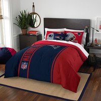 New England Patriots NFL Full Comforter Set (Soft & Cozy) (76 x 86)
