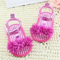Girls Outdoors Shoes Girl Summer Sandals Crib Soft Sole No-slip 0-18M