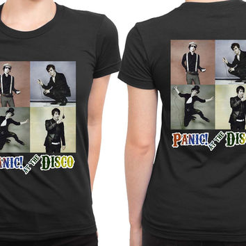 Panic At The Disco Photo Vintage Four 2 Sided Womens T Shirt