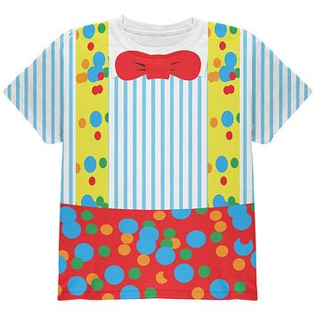 Halloween Clown Costume All Over Youth T Shirt