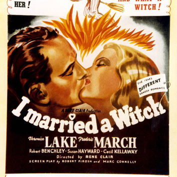 I Married a Witch (UK) 11x17 Movie Poster (1942)