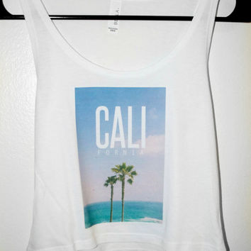 California Palm Beach crop top tank  - Brandy Melville inspired