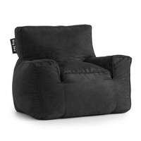 Big Joe Black Microsuede Suite Lounger