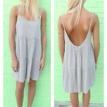 Off The Shore Printed Ivory Tier Tank Dress
