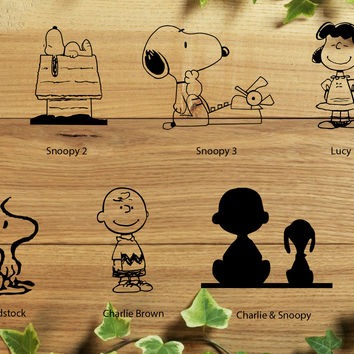 Snoopy Peanut Collection Decal Decal for your Car, Walls, Laptops, iPhone, iPad and Water bottles.