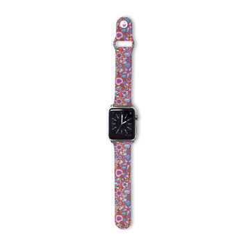 """Julia Grifol """"My Dreams in Color"""" Pink Stars Apple Watch Strap"""