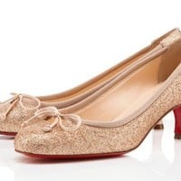 Christian Louboutin Nude Neo Mars 45mm Pumps [2011080602] - $189.00 : Christian Louboutin Shoes On Sale, Enjoy 75% Off The Shoes Outlet!