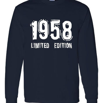 1958 Limited Edition Bday Long Sleeve Unisex T Shirt 55Th Bday Tee Great Birthday Gift Long Sleeve Happy 55th tee Shirt