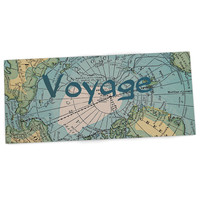 "Catherine Holcombe ""Voyage"" Teal Map Desk Mat"
