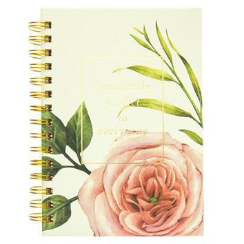 Coral Floral Hard Cover Journal
