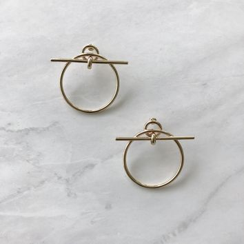 Circle Stick Earrings