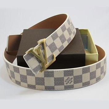 One-nice™ LV Louis Vuitton Woman Fashion Smooth Buckle Belt Leather Belt