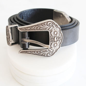 Floral Etched Belt