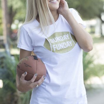 Sunday Funday Football Graphic Tee