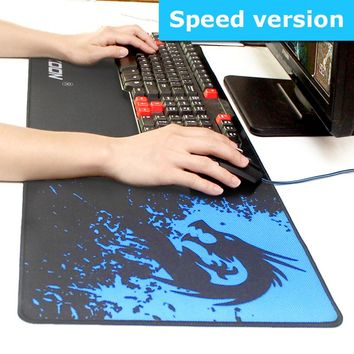 Game Mouse Pad Natural Rubber Large Gaming Mouse Pads Locking Edge Mouse Mat Speed Version For Internet Bar Mousepad