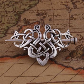 ing Antique Silver Large Celtics Knots Crown Hairpins Hair Clips Stick Slide Accessories