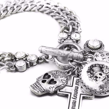 Day of the Dead Charm Bracelet