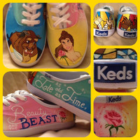 Beauty and the Beast Custom Keds (SHOES NOT INCLUDED)