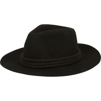 Billabong Women's Roped In Felt Hat I Black