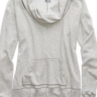 Aerie 's Cowl Neck Sweatshirt (Medium Heather Grey)