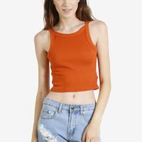 Celine Thick Ribbed Tank - Sunset