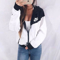 """NIKE"" Hooded Zipper Cardigan Sweatshirt Jacket Coat Windbreaker Sportswear [9240261895]"