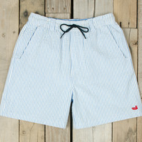 The Dockside Swim Trunk - Seersucker - Youth