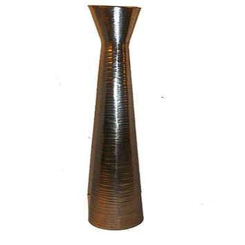 Tall and Thin Metal Floor Vase