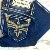 ROCK REVIVAL MADPINK B204 BOOTCUT JEANS