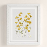 Jessica Hanselmann Yellow Cosmos Flowers Art Print | Urban Outfitters