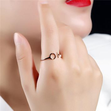 Unique Stainless Steel Women Rings Rose