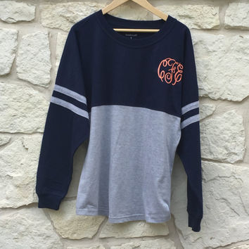 Monogrammed Long Sleeve Spirit Jersey