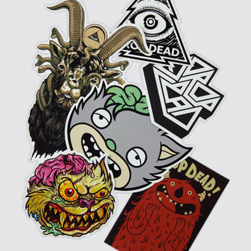 Mascot Sticker Pack, Drop Dead Clothing