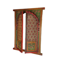 Jharokha Door Hand Carved Traditional Window Frame