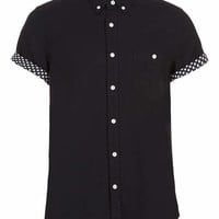 BLACK STARS CONTRAST SHORT SLEEVE SHIRT - New In
