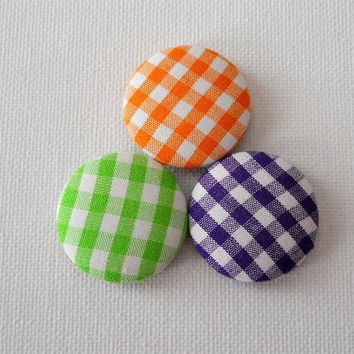 Fabric Button Magnets by JeJeweled on Etsy