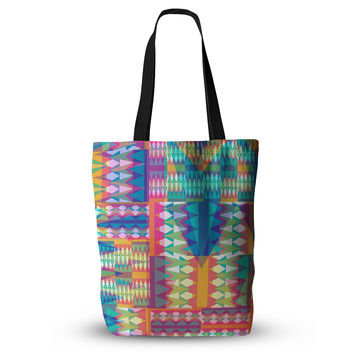 "Miranda Mol ""Triangle Quilt"" Multicolor Geometric  Everything Tote Bag"
