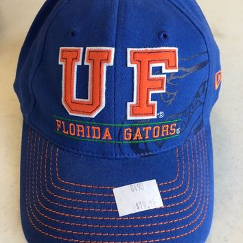 BRAND NEW FLORIDA GATORS NEW ERA LOGO CURVED BRIM STRETCH FIT HAT