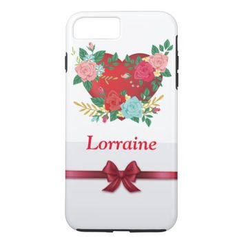 Red Heart iPhone 7 Plus Case
