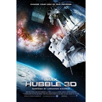 Hubble Telescope 3D poster Metal Sign Wall Art 8in x 12in