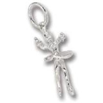 Ice Skater Charm In Sterling Silver