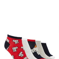 Elephant Print Socks - 5 Pack