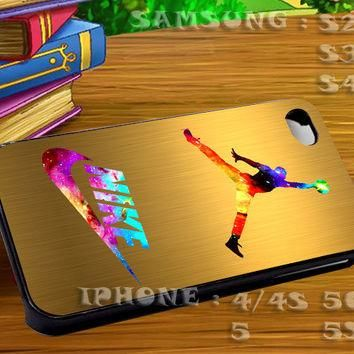 Jordan Nike Nebula For iphone 4 iphone 5 samsung galaxy s4 / s3 / s2 Case Or Cover Pho
