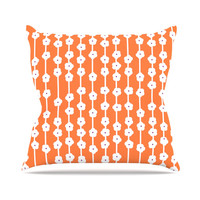 "Heidi Jennings ""Orange You Cute"" Outdoor Throw Pillow, 16"" x 16"" - Outlet Item"