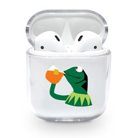 Sipping Frog Airpods Case