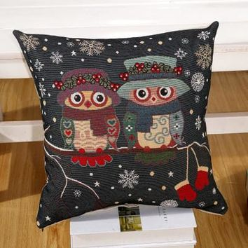 Cartoon Handmade Owl Home Decor Pillow Decorative Throw Pillows Cute Drawing 12