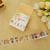 1.5cm*5m kawaii Cat washi tape DIY decorative scrapbooking masking tape adhesive label sticker tape stationery