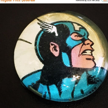 On Sale Captain America Comic Glass Pebble Magnet