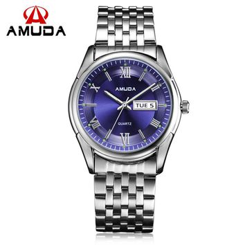 AMUDA Watches Men Luxury Brand Men Military Wrist Watches Full Steel Men Sports Watch Waterproof Relogio Masculino
